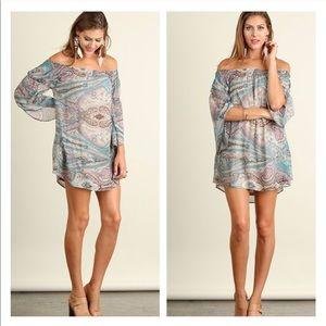 Pastel Paisley Shift Dress by Umgee~ Size Medium